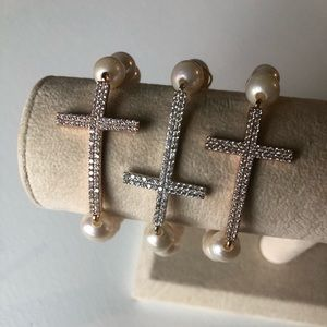 Jewelry - Cross bracelets with pearl price is for just one